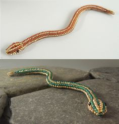 Free Beading Pattern: 3D Snake by Ruth Kiel