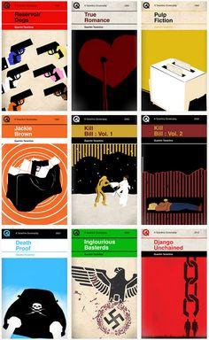 Tarantino films as vintage Penguin book covers - Sharm Murugiah