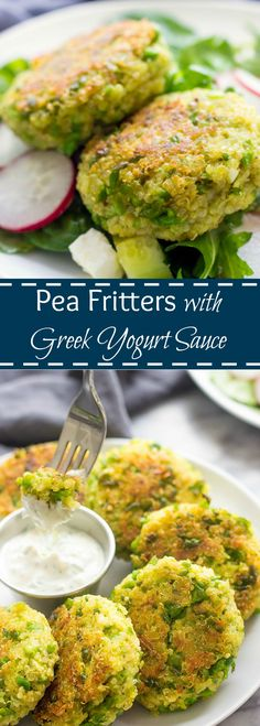 Pea Fritters are not just for babies. These delicious protein and healthy-grain packed patties make an easy and healthy 30-minute vegetarian recipe.