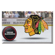 Fan Mats NHL Hockey Ice Rink and Puck Outdoor Scraper Doormat - 19134
