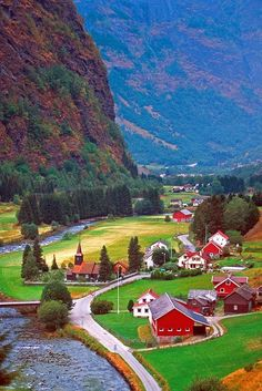 Sweden, but I live in a picturesque place like this. I don't appreciate it near enough until I read or see photos of similar places. Places Around The World, The Places Youll Go, Travel Around The World, Places To See, Dream Vacations, Vacation Spots, Wonderful Places, Beautiful Places, Beautiful Scarves
