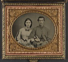 Unidentified Union Soldier and (presumably) his wife. Liljenquist Family Collection of Civil War Photographs (Library of Congress) | In the Swan's Shadow