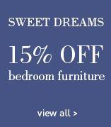 15% off all bedroom furniture