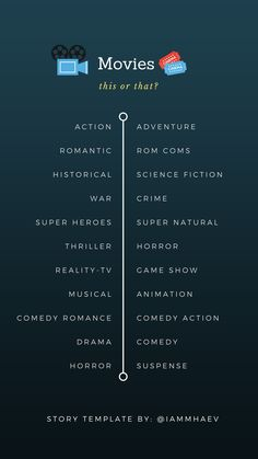 Movies (this or that) Instagram Story Template