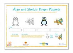 Find these Alan and Shelvis finger puppets in our Pip Ahoy! activity section on iChild.
