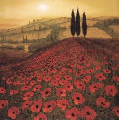 Poppy Field art poster at ArtPosters.com