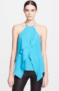 Yigal Azrouël Drape Front Crepe Georgette Top available at #Nordstrom