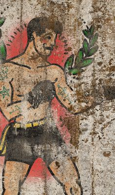 Carta da parati / Wall paper: BILLY HOPE – Traditional #Tecnografica #ItalianWallcoverings #cartadaparati #wallpaper #wallpapers #rosso #rossa #red #arredamentodinterni #interiordesign #design #soggiorno #vintage #industrial #modern #livingroom #man #boxe #fighter #sport