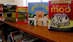Farm and farming books on display in the youth section of the Lester Public Library.