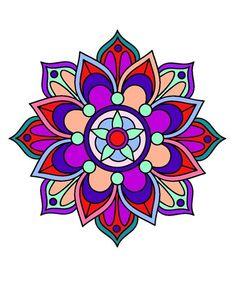 Mandala Painting, Mandala Drawing, Stencil Painting, Free Mosaic Patterns, Rangoli Patterns, Pattern Coloring Pages, Mandala Coloring Pages, La Tattoo, Barn Quilt Designs