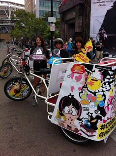 San Diego Branded Pedicabs for Comic-Con