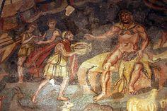 Ulysses and Polyphemus - Vestibule of Polyphemus - Villa Romana del Casale