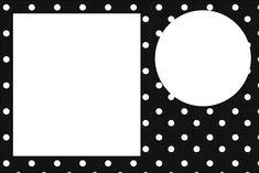 Preto e Branco com Bolinhas - Kit Completo com molduras para convites, rótulos para guloseimas, lembrancinhas e imagens!