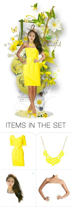 """""""Sunny Yellow Saturday!"""" by likepolyfashion ❤ liked on Polyvore featuring art, yellow, dollset and artset"""