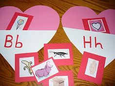 letter hearts