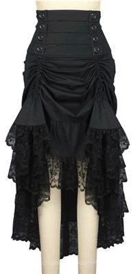 Chic Star Adalaide Victorian Steampunk Skirt #chicstar #gothic #goth #gothicskirt #gothskirt #victorian #victorianskirt #steampunk #steampunkskirt