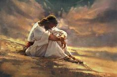 Lent Images I saw these images that depict Jesus in the desert and thought that these images would be a great way to reflect on . Pictures Of Jesus Christ, Jesus Christ Images, Image Jesus, Jesus Christus, Saint Esprit, Prophetic Art, God Jesus, Jesus Tomb, Jesus Prayer