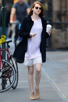 Emma Stone manages to look cool even when she doesn't try to look cool.