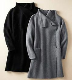 EILEEN FISHER NWT $338 Boiled Wool Unlined Coat ASH XL