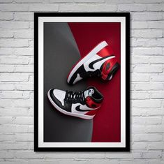 Hypebeast Sneakers, Nike Poster, Sneaker Posters, Red Trainers, Kicks Shoes, Air Jordan, Fashion Inspiration, Arch, Nike Trainers