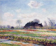 lonequixote:Tulip Fields at Sassenheim, near Leiden~Claude Monet