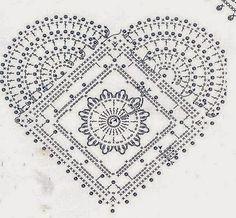 Ivelise Feito à Mão: Lindo coração De Crochê