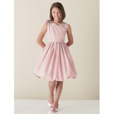 Pink Satin Sweetheart Junior Bridesmaid Dress With Pleats #wedding ...