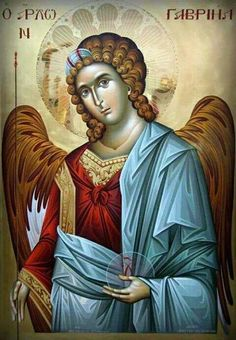 O secours Archangel Gabriel, come and save France ! Religious Images, Religious Icons, Religious Art, Byzantine Icons, Byzantine Art, Saint Gabriel, Art Icon, Guardian Angels, Orthodox Icons
