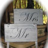 Cute Mr & Mrs tv trays