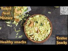 Baked Aval mixture | Aval Mixture recipe | Easy poha chivda | diwali snacks recipe | அவல் மிக்சர் - YouTube Dry Snacks, Healthy Snacks, Mixture Recipe, Diwali Snacks, Indian Snacks, Recipe Using, Guacamole, Snack Recipes, Easy Meals
