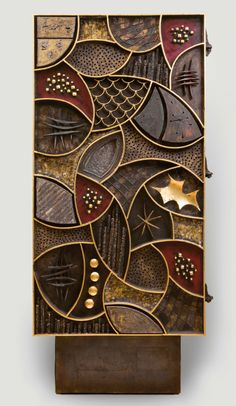 Paul Evans: Crossing Boundaries And Crafting Modernism by Constance Kimmerle, Ph… - wood art Clay Wall Art, Mural Wall Art, Clay Art, Wood Wall Art, Scrap Wood Art, Texture Painting, Painting On Wood, Wall Sculptures, Sculpture Art