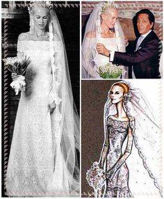 Claudia Schiffer in abito da sposa di Valentino, 2002