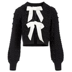 Alice + Olivia Kitty Puff Sleeve Cardigan Winter Looks, Long Tops, Winter Wardrobe, Skinny Pants, High Waist Jeans, Cable Knit, Knitwear, Alice Olivia, Long Sleeve