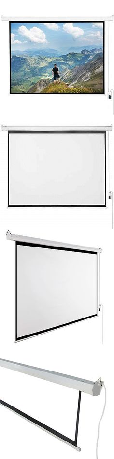 Projection Screens and Material: 120 4:3 Matte White Projector Screen, Electric Motorized Remote Control Screen -> BUY IT NOW ONLY: $74.99 on eBay!