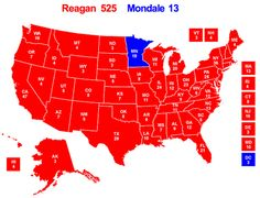 Mondale - Ragean - 1984 election