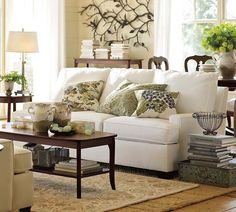 Pottery barn living room is the first place to look whenever you have new decoration ideas for a room. You can arrange a new look for your room in any way pottery barn living room designs, pottery barn living room furniture, pottery barn living room ideas Living Room Small, Living Room Sofa Design, Living Room Green, Home And Living, Living Room Furniture, Living Room Designs, Living Room Decor, White Furniture, Living Rooms