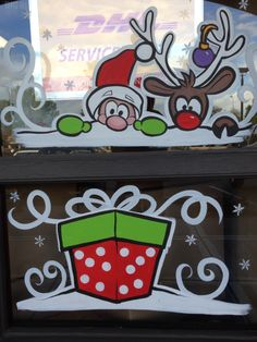 Christmas window painting 2014