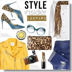 Style Insider: Leopard by queenvirgo on Polyvore featuring MANGO, Jennifer Chamandi, Dolce&Gabbana, Yves Saint Laurent, Emilio Pucci, Bobbi Brown Cosmetics and Fujifilm