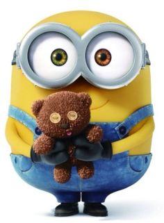 Bob the minion is the cutest and his teddy bear!!!!!!!!!!!!!!!!!!