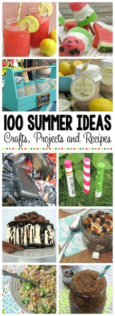 100+ Summertime Ideas! I can't wait for summer!