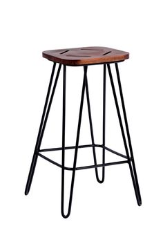 Handcrafted industrial tzalam wood steel design hairpin barstool Parras stool  https://www.etsy.com/listing/204892959/handcrafted-industrial-tzalam-wood-steel
