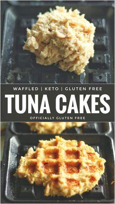 and Drink keto recipes Low Carb Waffled Tuna Cakes Waffle Maker Recipes, Tuna Patties, Tuna Cakes, Comida Keto, Inexpensive Meals, Keto Snacks, Diabetic Snacks, Diabetic Breakfast Recipes, Easy Snacks