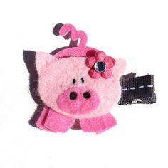 Felt hair clip little girl hair clip baby hair by MildredandGeorge, $5.00