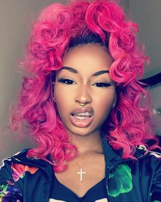 lace front wigs shop now at www. Looks Style, Looks Cool, Black Girls Hairstyles, Pretty Hairstyles, Curly Hair Styles, Natural Hair Styles, Look Girl, Coloured Hair, Colored Weave