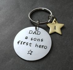 Dad Keychain from Son - Son Fathers Day Gift - Gift from Son - Superhero Dad Keychain - Fathers Day gift - Keychains for Dad - Dad gifts