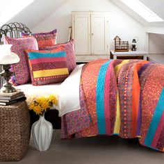 Boho Stripe 5 Piece Quilt Set | from hayneedle.com guest room?