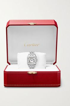 Stainless Steel Bracelet, Stainless Steel Case, Cute Hand Tattoos, Cartier Panthere, Gold Diamond Watches, Luxury Gifts, Crystal Bracelets, Pink And Gold, Zip Around Wallet