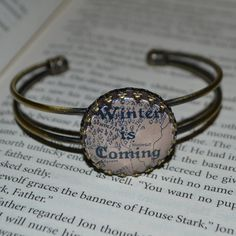 Game of Thrones Winter Is Coming Cuff Bangle by KitschKatKeepsakes, £10.00