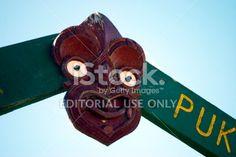 Wai Atua Puketawai Maori Gatepost Royalty Free Stock Photo