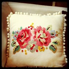 Cross stitch cushion. From cath kidston stitch book.